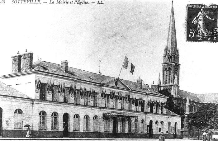 ancienne mairie sotteville et église nd assomption