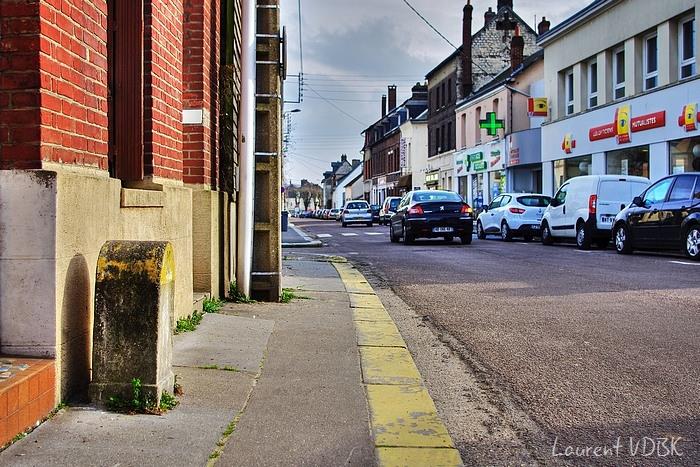 Sotteville - dernière borne kilométrique rue de Paris