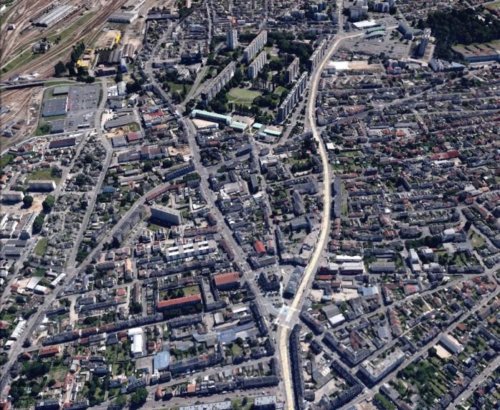 Fourche de la place Voltaire, Sotteville-lès-Rouen