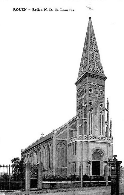 église Notre Dame de Lourdes - Sotteville - Carte postale ancienne