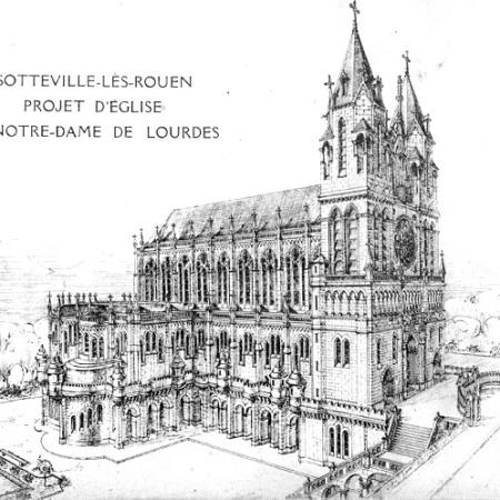 église Notre Dame de Lourdes - Sotteville - Maquette projet