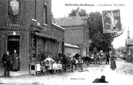 Sotteville angle rues du Madrillet et JB Gilbert