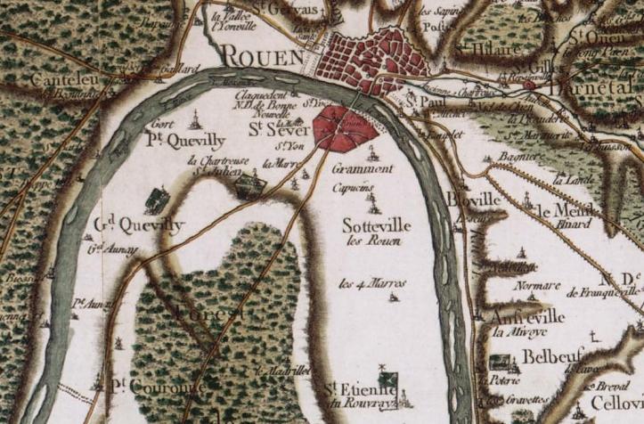 Carte de Cassini - Sotteville-lès-Rouen