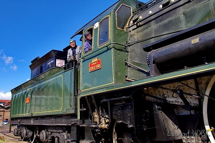 La Locomotive à vapeur Pacific 231 G 558 aux Journées du Partimoine 2015