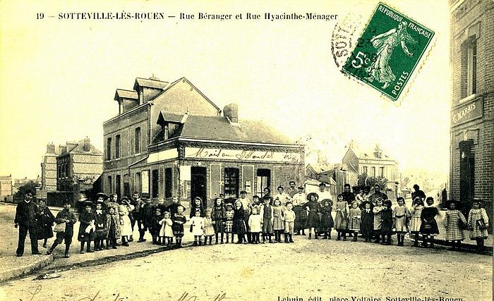 Carte postale Sotteville les Rouen - Carrefour Béranger