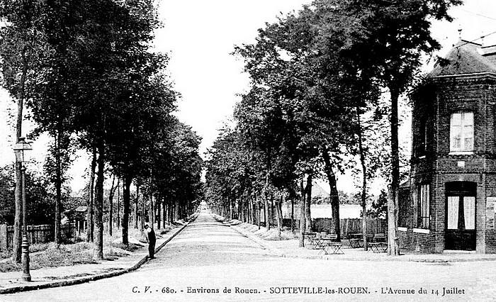 Avenue du 14 juillet angle Jean Jaurès - Sotteville-lès-Rouen