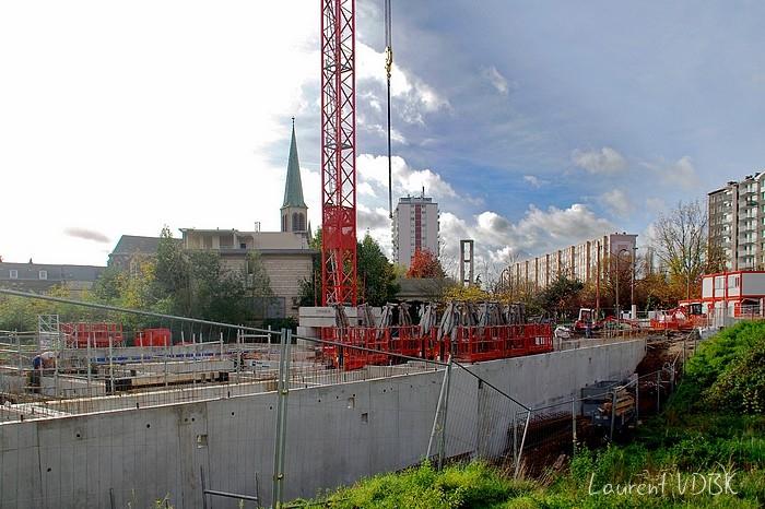 Sotteville, chantier de l'ancienne résidence St Joseph