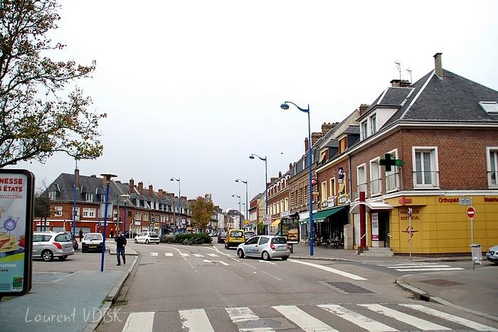 Rue Corneille et place Voltaire à l'angle de la rue Barbès 2015 - Sotteville-lès-Rouen