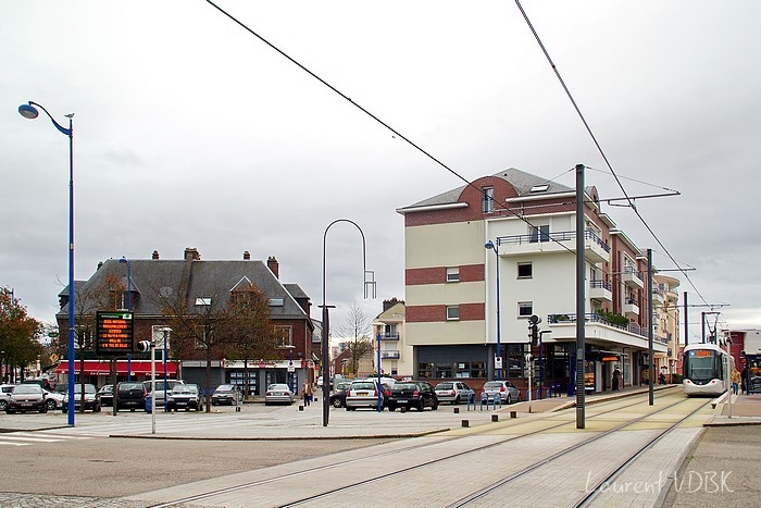 Place Voltaire rue de la République et rue L Blum 2015 - Sotteville-lès-Rouen