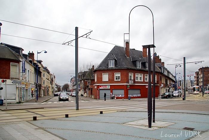 Place Voltaire et rue Méridienne 2015 - Sotteville-lès-Rouen