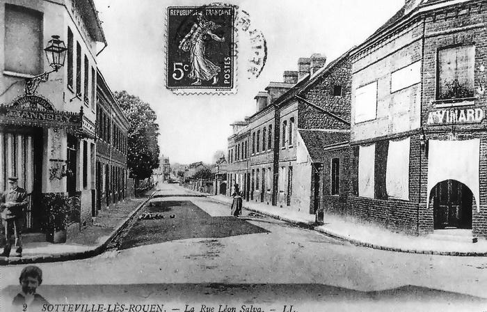 Sotteville-lès-Rouen, angle rues Garibaldi et Bouvier quand elle s'appellait Salva