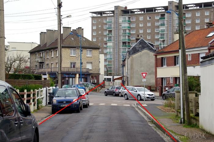 Sotteville lès Rouen - Rue J Cécille angle Garibaldi et coupe Salva