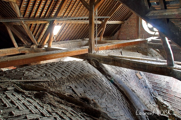 grenier et voûtes église notre dame de l'assomption - sotteville-lès-rouen