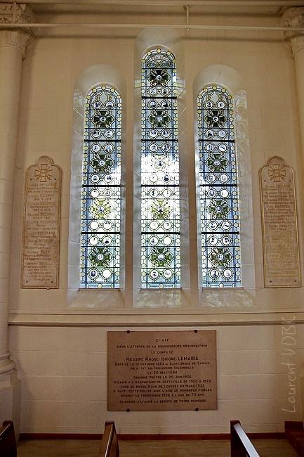 Crypte ND de Lourdes - Médaillons de soldats - Sotteville-lès-Rouen