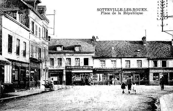 Rue Raspail, place de la République - Sotteville-lès-Rouen