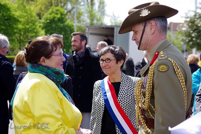 Sotteville-lès-Rouen : L'hippodrome des Bruyères a été transformé en camp hospitalier australien pendant la première guerre mondiale il ya 100 ans. Hommage le 30 avril 2016