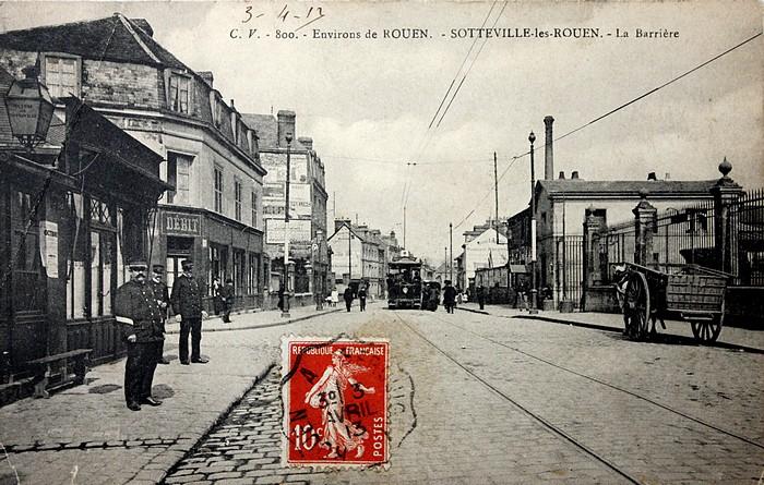 """""""La Barrière"""", octroi et abattoirs place Voltaire - Sotteville-lès-Rouen - Tramway"""