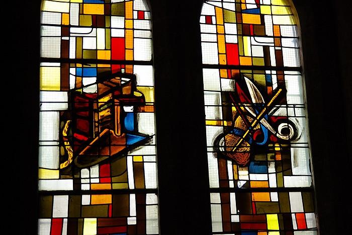 Vitraux église NDAssomption Sotteville-lès-Rouen : Les métiers