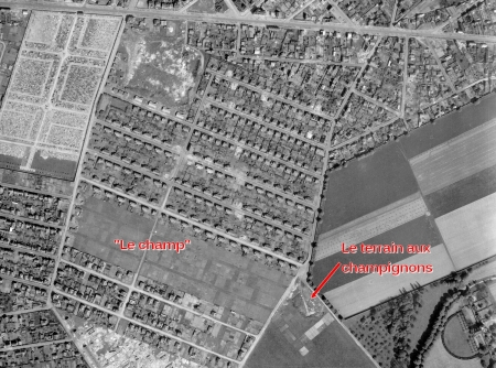 Sotteville-lès-Rouen quartier toit familial vue aérienne 1946