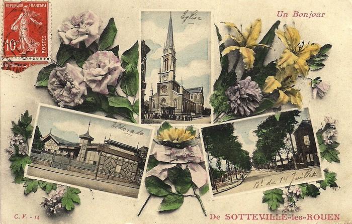 Carte postale ancienne sotteville-lès-Rouen