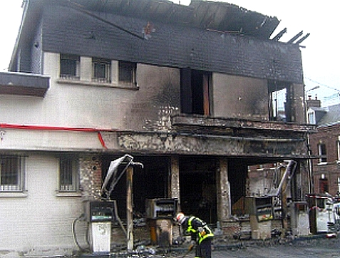 Incendie station service 2007 Sotteville-lès-Rouen