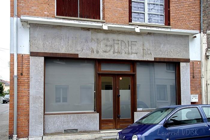 Traces d'une ancienne enseignes boulangerie rue de Paris à Sotteville-lès-Rouen