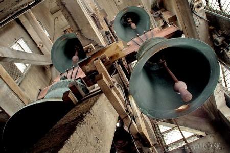 Cloches dans le clocher de l'église Saint Vincent de Paul à Sotteville-lès-Rouen