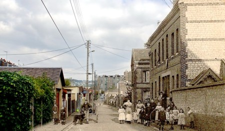Rue Jean Cécille - Sotteville-lès-Rouen - Montage avant/après