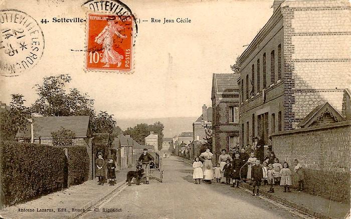 Rue Jean Cécille - Sotteville-lès-Rouen - Carte postale ancienne