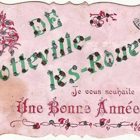 Carte postale ancienne - Bonne année de Sotteville-lès-Rouen