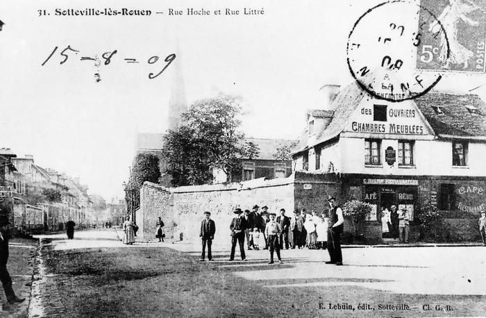 Rue littré - Sotteville-lès-Rouen - Carte postale ancienne