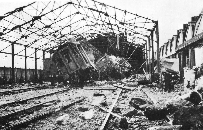 bombardement gare de triage sotteville