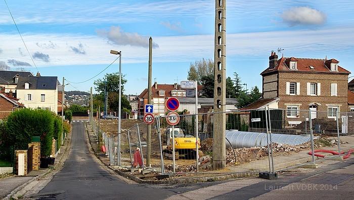 Sotteville-lès-Rouen - Chantier Angle rues Barbet / Emile Zola