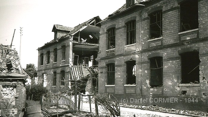 Ecole Renan - Sotteville-lès-Rouen - Bombardement aile de la rue Marion