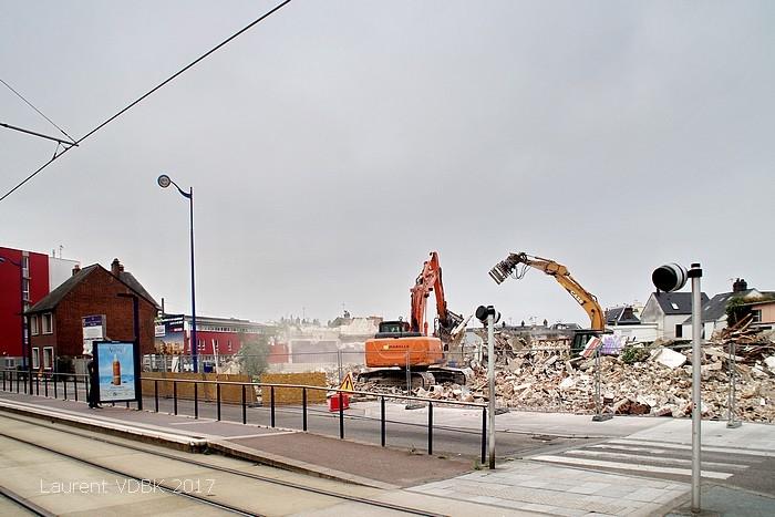 Place Voltaire - démolition - Sotteville-lès-Rouen