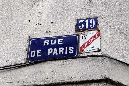 Plaque email licence IV rue de Paris - Sotteville-lès-Rouen