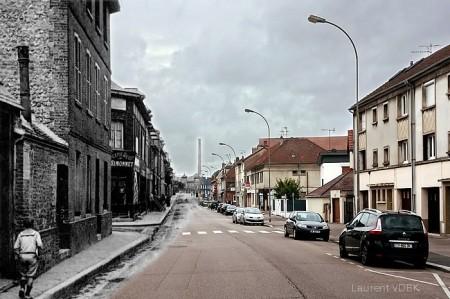 Rue Pierre Corneille, à l'angle de la rue Marc Lefebvre - Sotteville-lès-Rouen