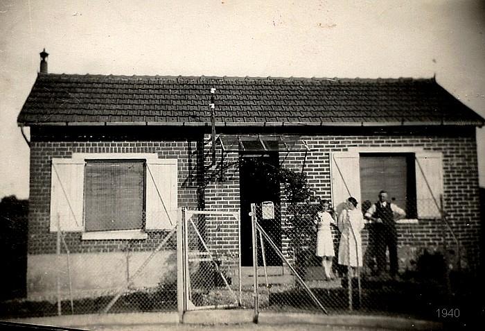 Maison qui n'existe plus rue de la Nation (photo 1940) - Sotteville-lès-Rouen