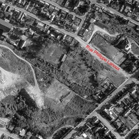 Plan de la rue Philippe Lanoux qui vient d'être percée- Sotteville-lès-Rouen