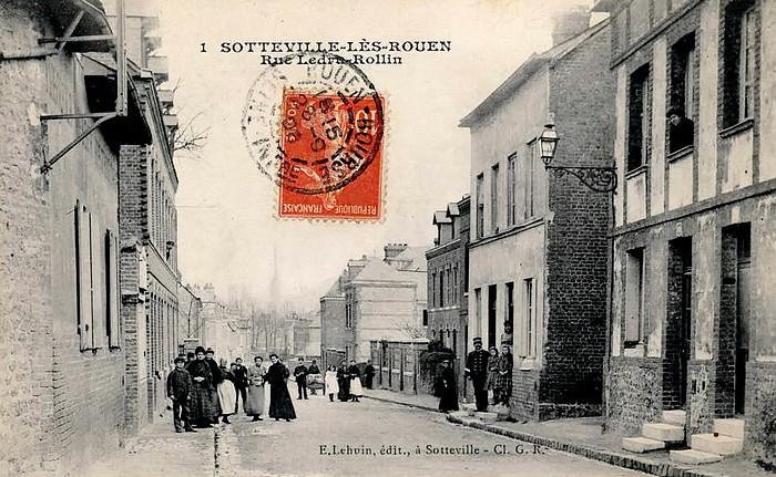 Carte postale ancienne de la Rue Ledru-Rollin - Sotteville-lès-Rouen