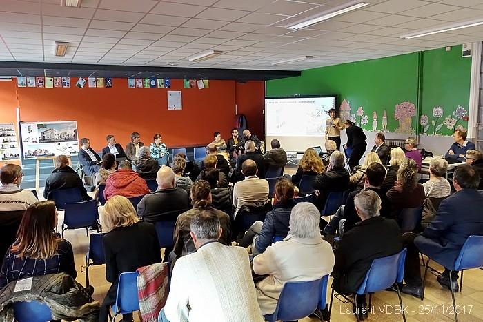 Réunion de présentation du projet immobilier de l'îlot Raspail-Hugo-Boieldieu à Sotteville-lès-Rouen