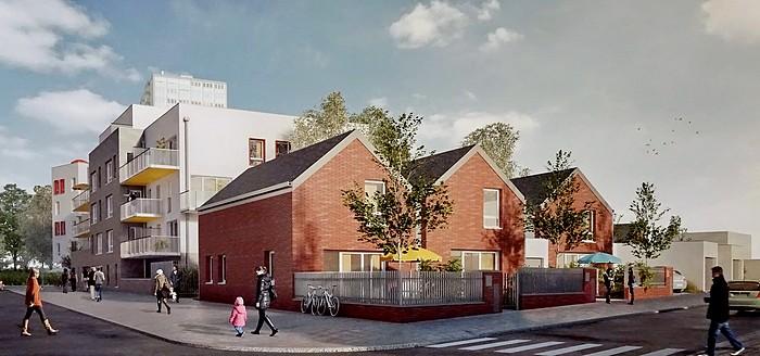 Maquette du projet de construction du quartier Raspail-Victor Hugo-Boieldieu à Sotteville-lès-Rouen