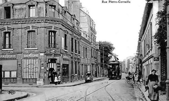 Rue Pierre Corneille - Sotteville-lès-Rouen - Carte postale ancienne (vieille photo noir et blanc)