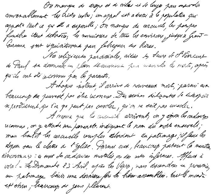 Texte de l'abbé Lemaire suite aux obsèques à Notre Dame de Lourdes des victimes du bombardement du 19 avril 1944 à Sotteville-lès-Rouen