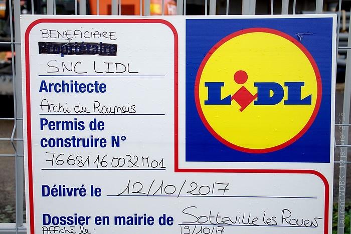 Démolition Sématrans Sotteville-lès-Rouen pour construction d'un Lidl