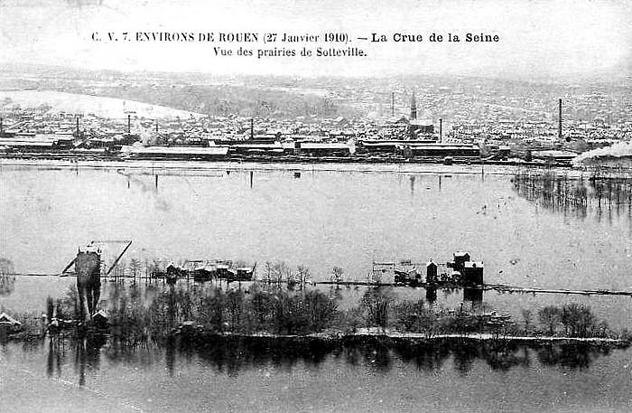 Crue de la Seine 1910 à Sotteville-lès-Rouen