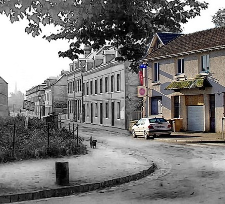 Rue Ledru Rollin - Sotteville-lès-Rouen - Rephotographie photo ancienne