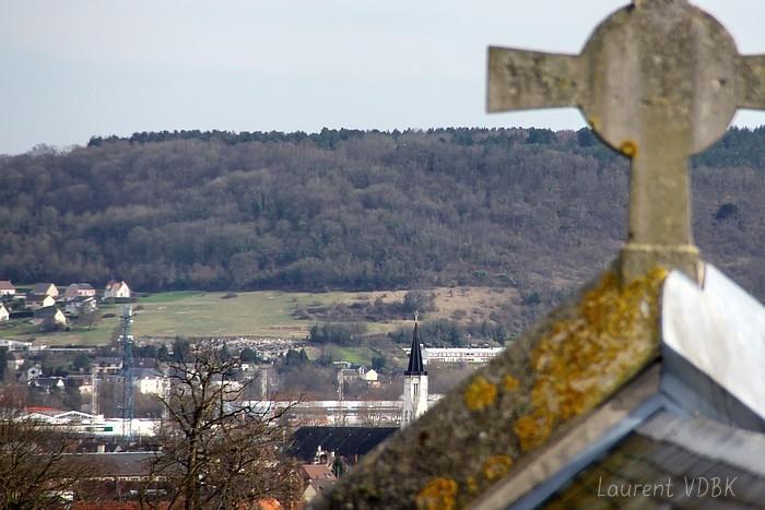 L'église St Vincent de Paul et Bonsecours vus de l'église ND de Lourdes à Sotteville-lès-Rouen