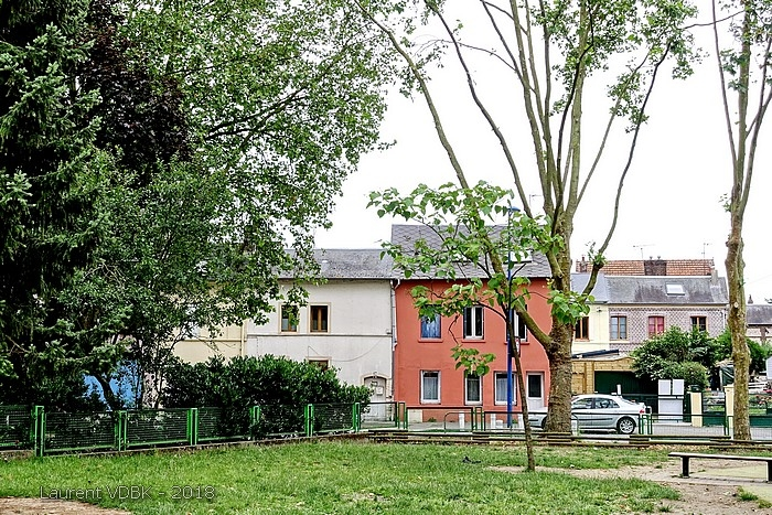 Cour de l'école Franklin-Raspail et Rue Raspail - Sotteville-lès-Rouen