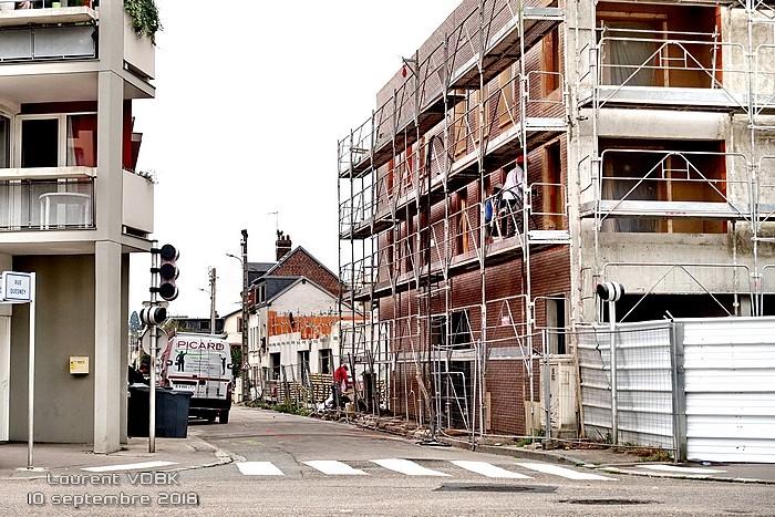 Construction quartier Voltaire (rue Quesnay) - Sotteville-lès-Rouen